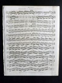 Rees 1820 Antique Print. Music 27 Fingering on Keyed-Instruments